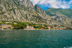 View of the coast of the Bay of Kotor Royalty Free Stock Photography