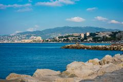 View from the coast of Cannes, France stock photography
