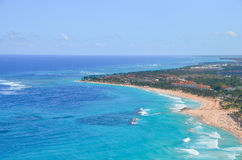 View of the coast of the Caribbean. Royalty Free Stock Photo