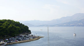 View of the coast of Cavtat Royalty Free Stock Photo