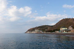 View of the coast of the Crimea in summer day Stock Images