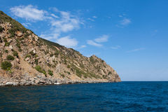 View of the coast of the Crimea in summer day Stock Image