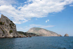 View of the coast of the Crimea in summer day Royalty Free Stock Images