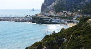 View of the coast of El Garraf Stock Image