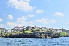View of the coast of Eski focain Izmir Turkey stock photography