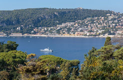 View of the coast of the French Riviera near Nice Royalty Free Stock Photography
