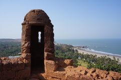 View of the coast of India from the fortress stock images