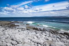 The view from the coast of Ireland to the Atlantic ocean stock image