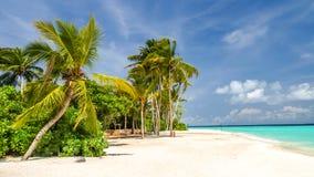 View of the coast of irufushi island, maldives Stock Photos