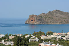 View of the coast on the island of Crete Royalty Free Stock Photos