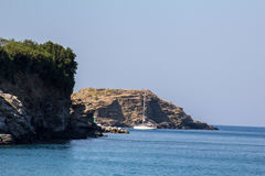 View of the coast on the island of Crete. Royalty Free Stock Image
