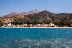 View of the coast on the island of Crete. Stock Photography
