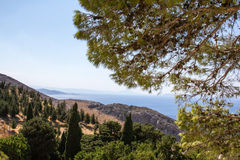 View of the coast on the island of Crete. Stock Images