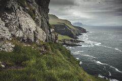 coast of the island of Mykines in the Faroe Islands