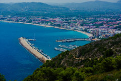 View of the coast of Javea Stock Photos