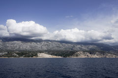View on the coast of Kvarner, Croatia Royalty Free Stock Images
