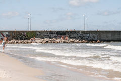 View of the coast leba. Iew of the beach in Leba Royalty Free Stock Photography