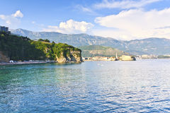 View of the coast of Montenegro Royalty Free Stock Image