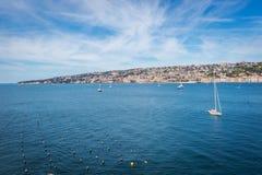 View of the coast of Naples, Italy. Royalty Free Stock Photos