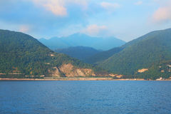 View of coast near city of Sochi Royalty Free Stock Photo