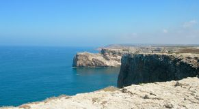 View of the coast in the Portuguese Algarve. stock photography