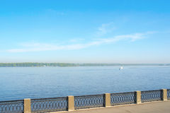 View on the coast of river Volga Royalty Free Stock Photo