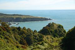 View from the coast road in New Zealand Royalty Free Stock Photography