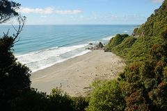 View from the coast road in New Zealand Royalty Free Stock Photos