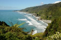 View from the coast road in New Zealand Stock Images