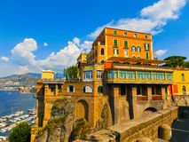 View of the coast in Sorrento, Italy. View of the coast in Sorrento at Italy Royalty Free Stock Photo