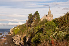 A view of the coast, St Andrews, Scotland stock image
