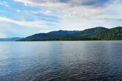 Teletskoye Lake in Altai Republic. Russia Royalty Free Stock Photo