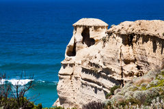View at coast Twelve Apostles by Great Ocean Rd Royalty Free Stock Image