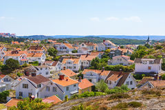 View of a coast village in Sweden royalty free stock photo