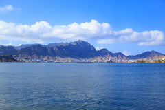 View of the coastal part of the city of Aden, Yemen. In a sunny day Royalty Free Stock Photos