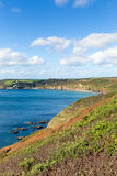 View from coastal path Kenneggy Cornwall UK Stock Photography