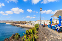 A view of coastal promenade in Puerto del Carmen Stock Photos