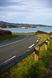 View on coastal road on the ledge of atlantic coast leading to the beaches Stock Photo