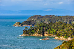View of the coastline in Abel Tasman National Park, New Zealand Stock Images