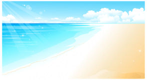 The view of Coastline. At Beach royalty free illustration