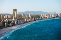View of the coastline in Benidorm Royalty Free Stock Images