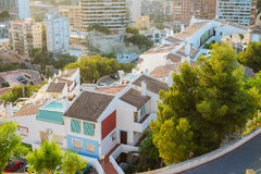 View of the coastline in Benidorm Royalty Free Stock Photography