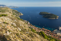 View of coastline in Dubrovnik Royalty Free Stock Images