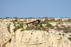 View of Coastline with generic rock, Gozo, Malta.  Stock Photography
