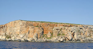 View of Coastline with generic rock, Gozo, Malta.  Stock Photo