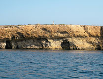 View of Coastline with generic rock, Gozo, Malta.  Royalty Free Stock Photos