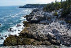 Maine Island Coast, Acadia National Park, Isle au Haut. A view of the coastline of Isle au Haut off the coast of Maine, part of Acadia National Park Royalty Free Stock Image