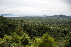 View coastline tropical rain forest Domesila viewpoint Koh Phangan Thailand Royalty Free Stock Images