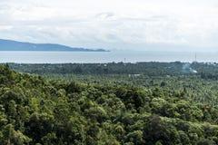 View coastline tropical rain forest Domesila viewpoint Koh Phangan Thailand Stock Images