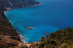 View of coasts at kefalonia island Royalty Free Stock Photos